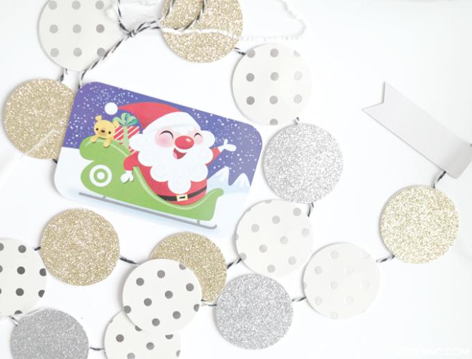 Target-GiftCard-Holiday-DIY-confetti-garland-glitterinc.com_-680x518