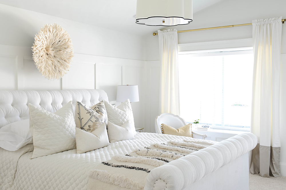 7 tips for creating the perfect white bedroom glitter