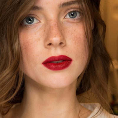 Winter Beauty: The Perfect Ruby Red Lipstick