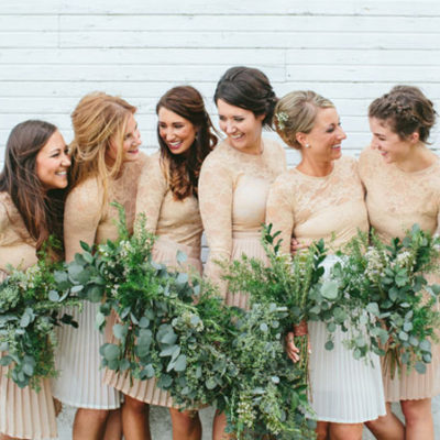 Unexpected Neutral Bridesmaids Dresses