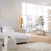 white gold cream bedroom