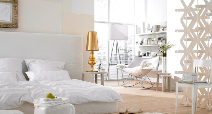 white gold cream bedroom