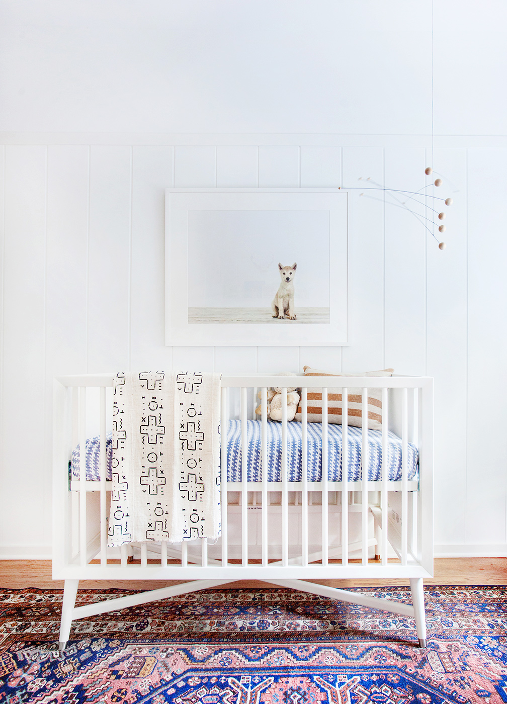 A new family s bohemian eclectic california home glitter for Simple nursery design