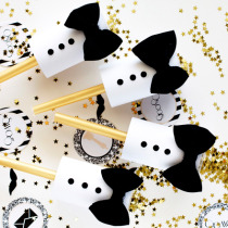 End your party with confetti ... from DIY Tuxedo Confetti Poppers. (via Kristi Murphy)