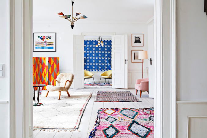 Design Files: Vintage Berber Rugs (a.k.a., Boucherouite Rugs) By NC Blogger  Glitter ...