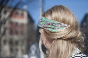 Winter Hair Headband Bun