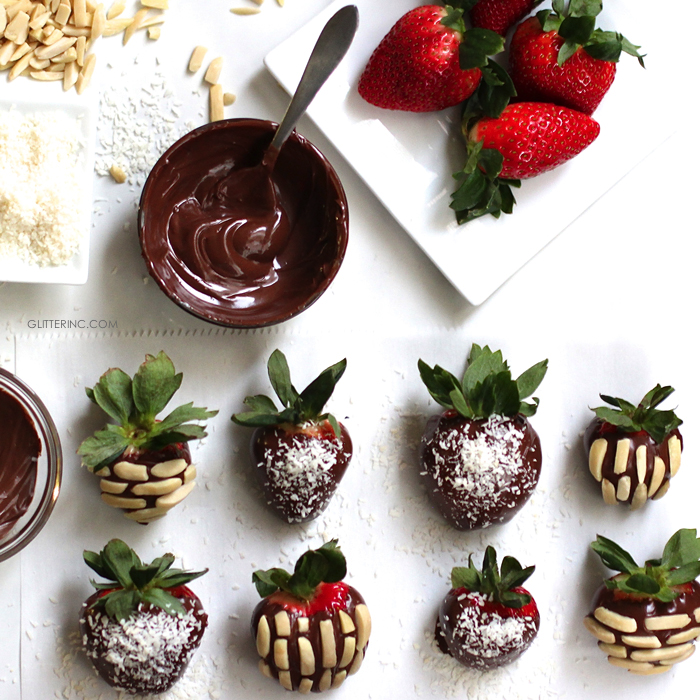 Chocolate and Nutella Covered Strawberries | Glitter, Inc ...