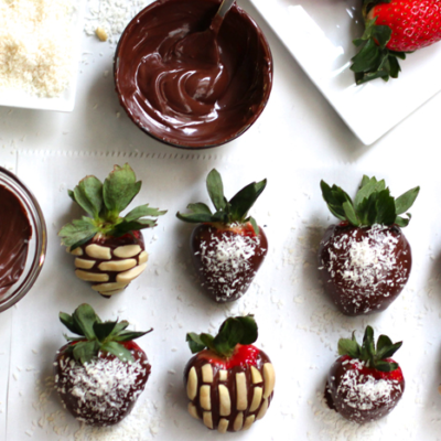 Chocolate and Nutella Covered Strawberries