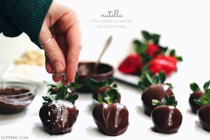 Chocolate And Nutella Covered Strawberries Glitter Inc