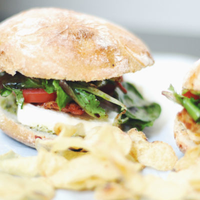 Caprese Chicken Sandwiches with Pesto Mayo