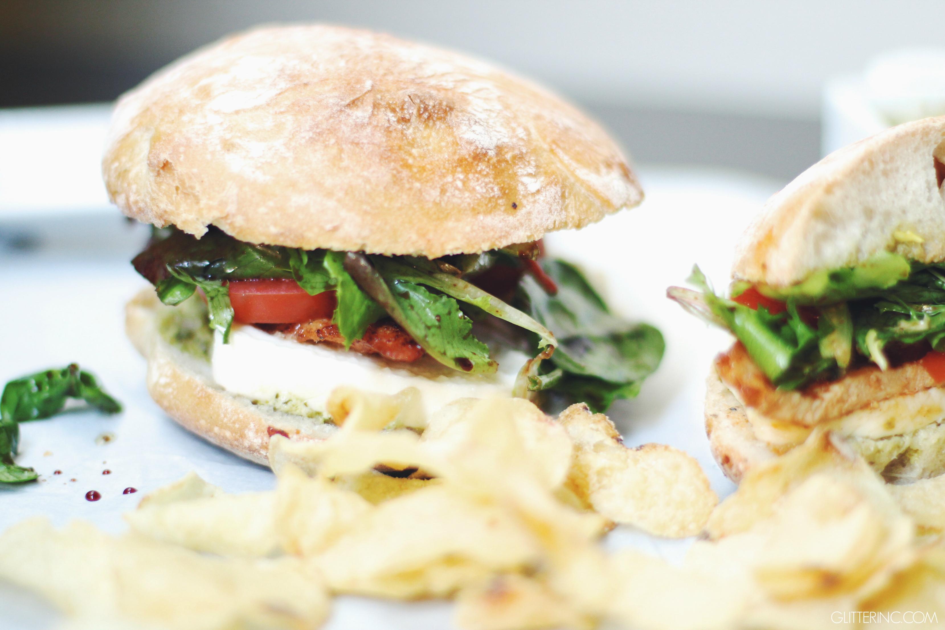 Grilled Chicken Club Sandwich With Pesto Mayo Recipes — Dishmaps