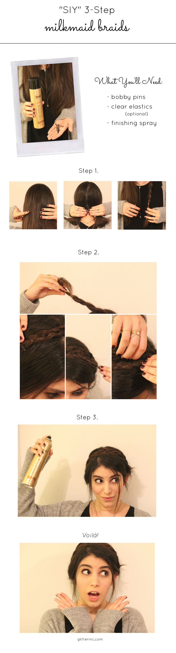 SIY-Style-it-Yourself-Double-Milkmaid-Braids-updo-tutorial-Suave---Easy-Hairstyle-Braids---glitterinc.com