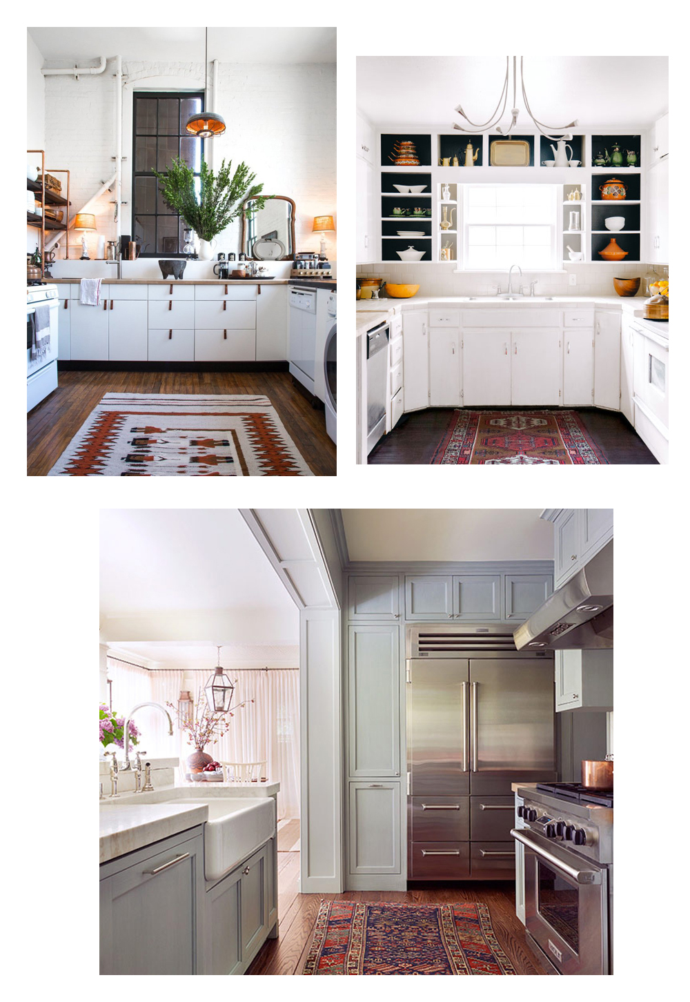 Vintage, Persian, Kilim & Turkish Rugs in the Kitchen | Home Decor ...