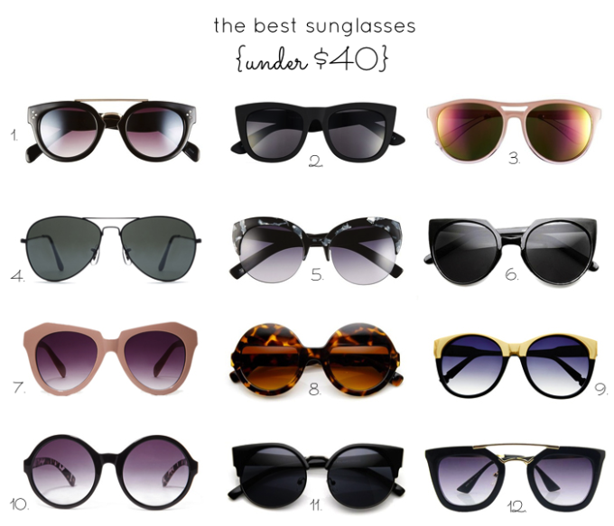 affordable sunglasses - under $40 - fashion - glitterinc.com