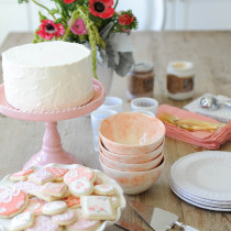 cookies---cake-stand---flowers---table---pink