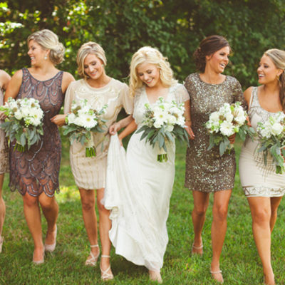 Vintage-Inspired Wedding Fashion: Glam Sequins