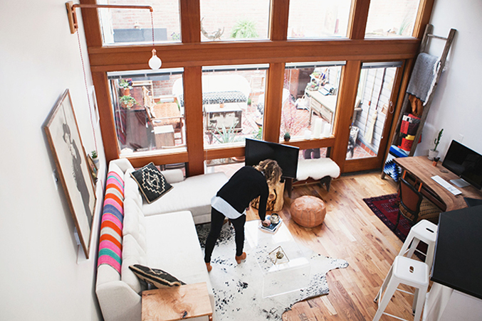 Living-Room-bohemian-eclectic-seattle-apartment-loft