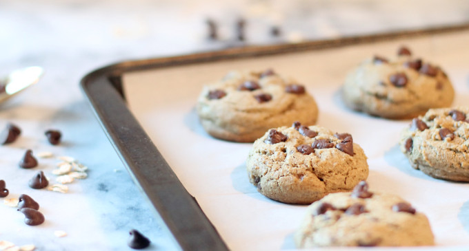 healthy-chocolate-chip-cookies-with-oat-flour---glitterinc.com