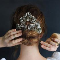 lulu frost hair jewelry bun how to