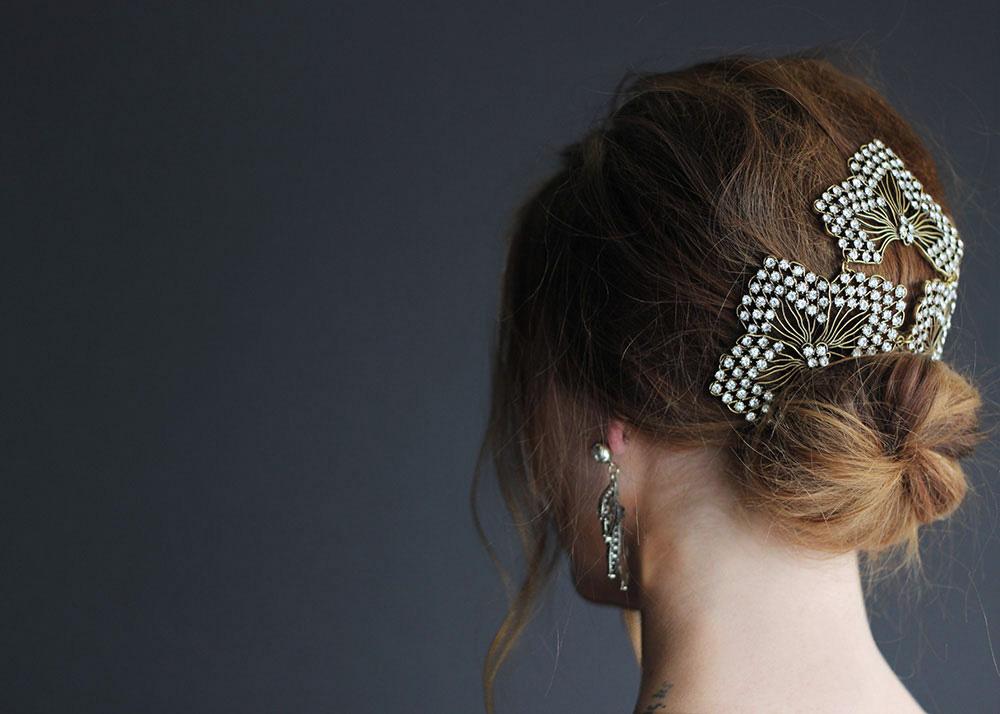 lulu frost hair jewelry updo
