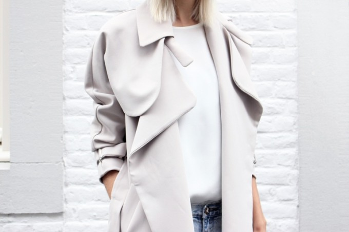 malene birger oversized trench coat