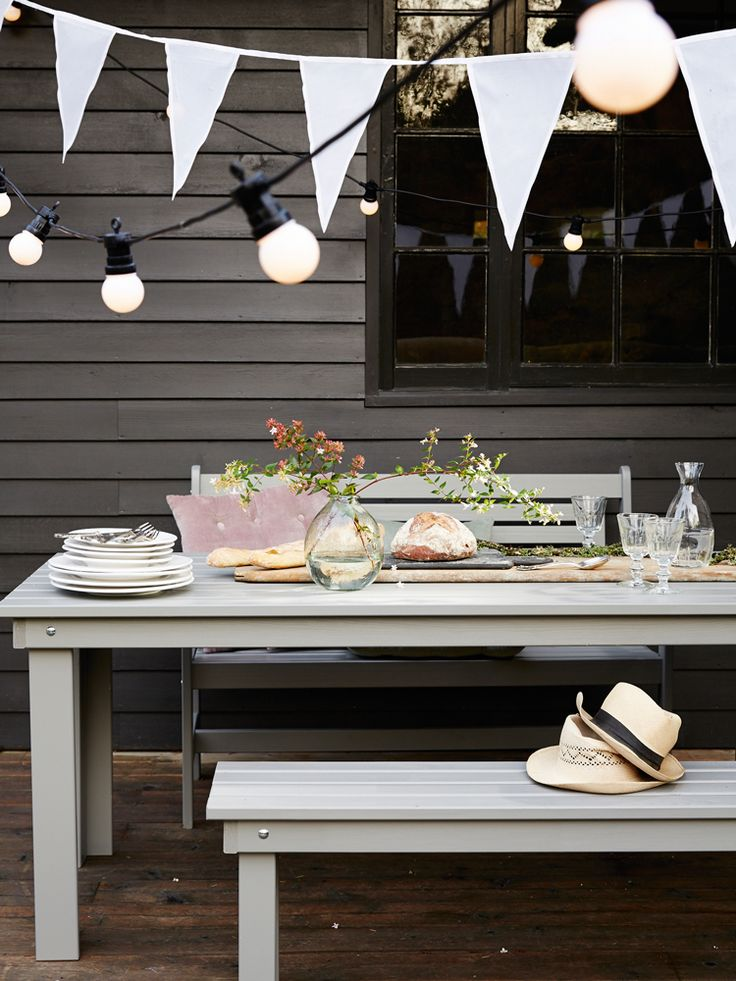 picnic bench table outdoor dining space