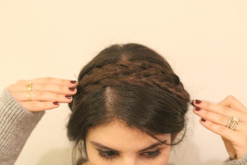 Brilliant How To 3 Step Double Braids A K A Milkmaid Braids Glitter Short Hairstyles Gunalazisus