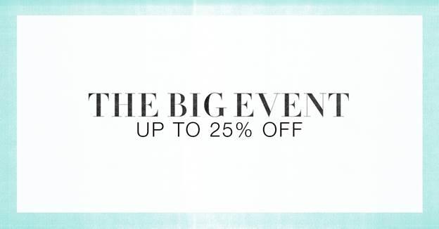 shopbop big sale event 2015 spring