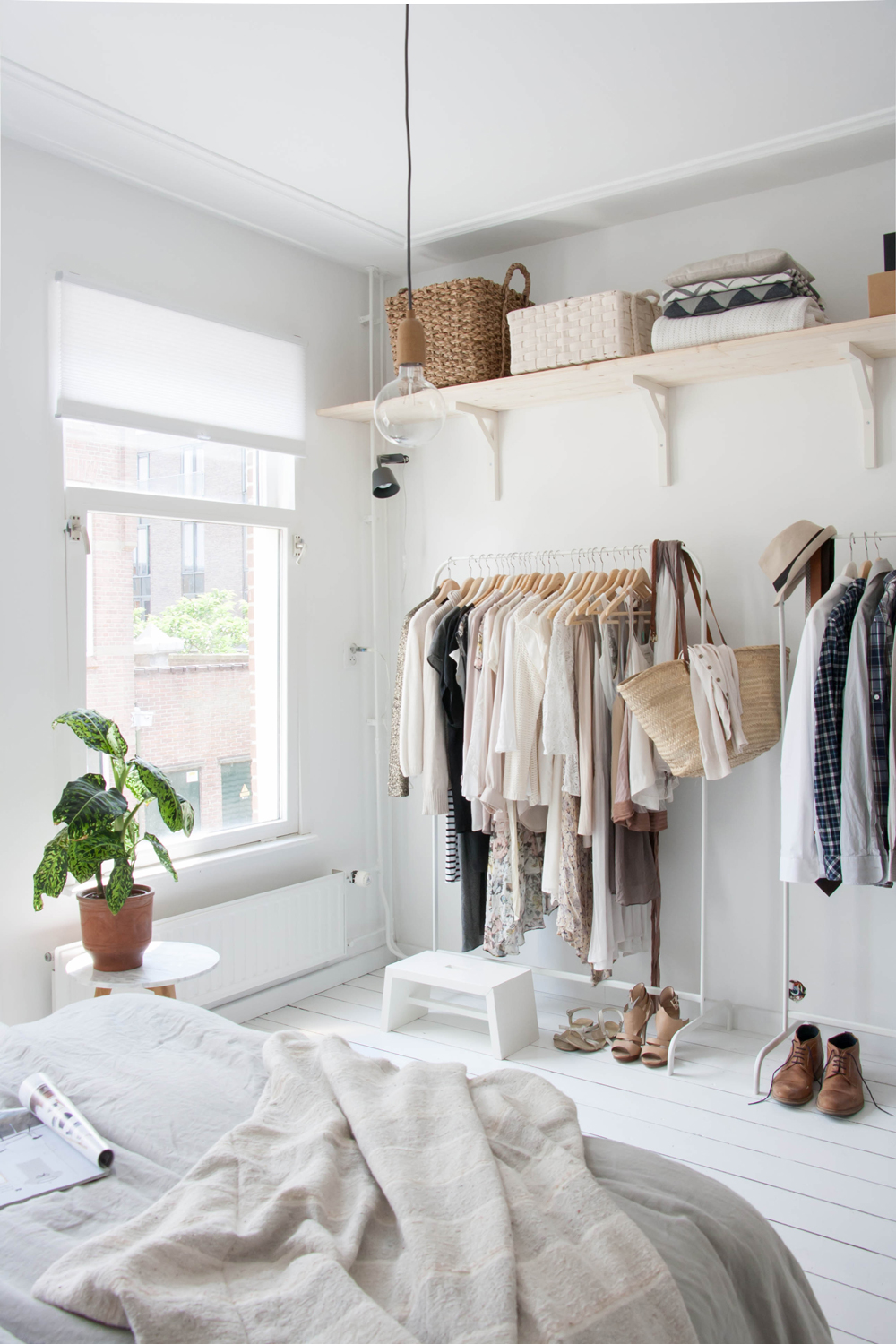 white-neutral-natural-bedroom-with-open-closets