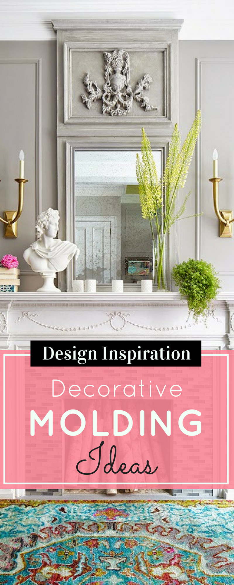 Looking for a new way to add to your home decor? Here are some beautiful examples of decorative molding. | glitterinc.com | @glitterinc