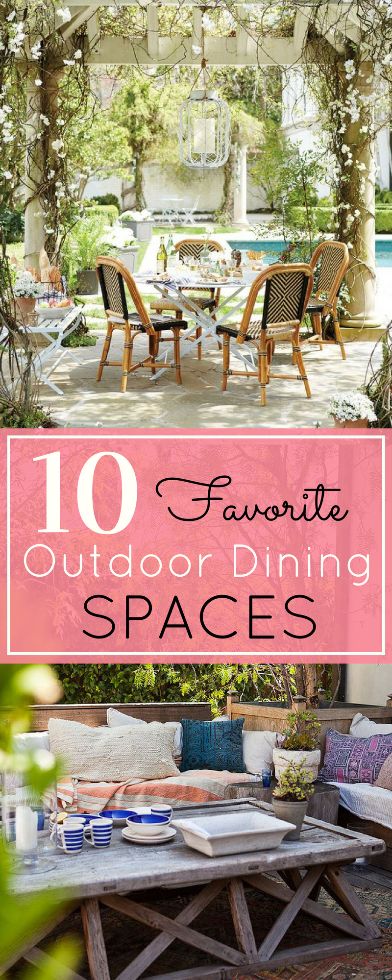 Here are my 10 favorite outdoor dining spaces and design ideas. | glitterinc.com | @glitterinc