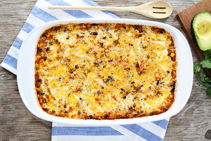 15 Favorite Vegetarian Dinner Recipes: Black Bean and Quinoa Enchilada Bake