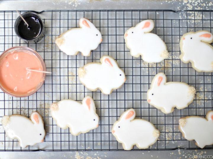Easter Bunny Sugar Cookies | Glitter, Inc.