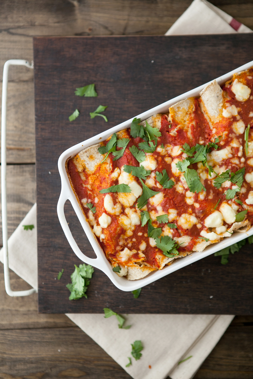 Roasted-Corn-and-Ricotta-Enchiladas-with-Chipotle-Tomato-Sauce