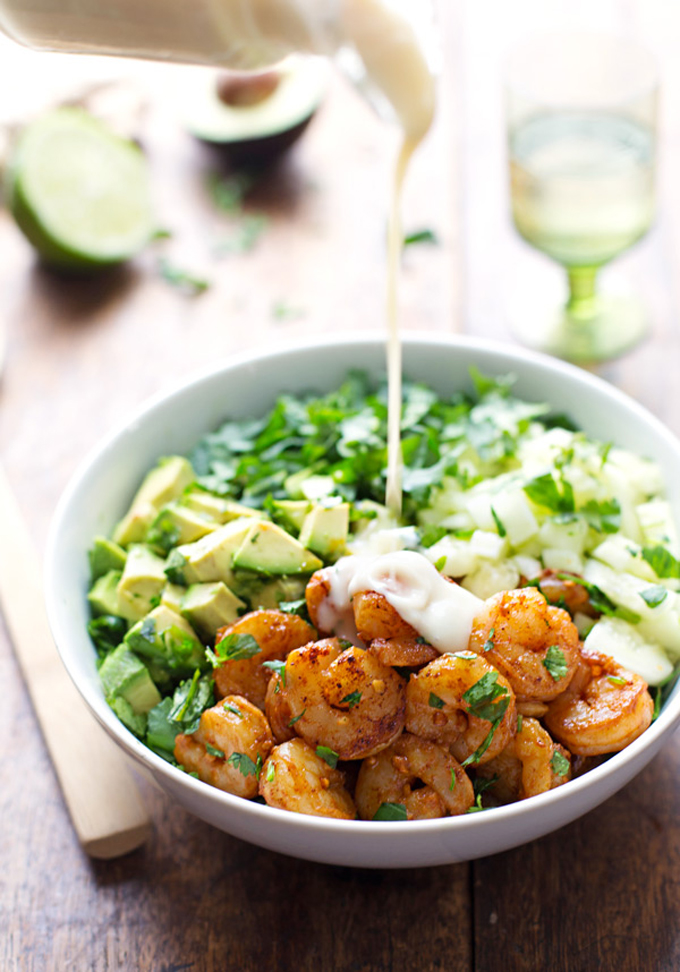 Shrimp-and-Avocado-Salad-miso-dressing-summer