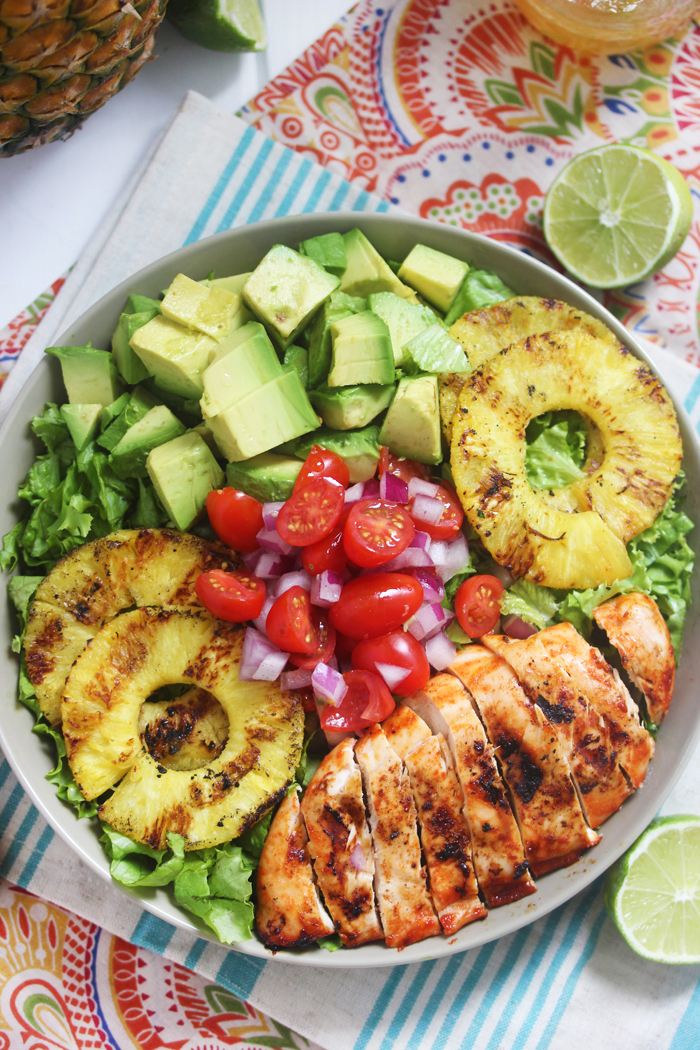 Sriracha-Lime-Chicken-Chopped-Salad-with-Grilled-Pineapple