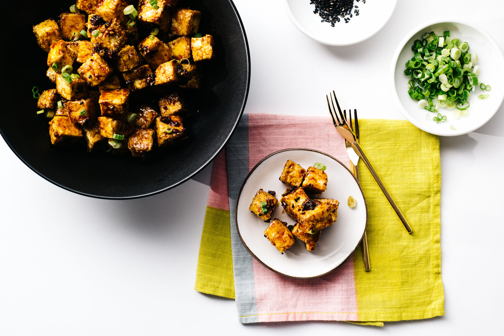 15 Favorite Vegetarian Dinner Recipes: Crispy Baked Honey Garlic Tofu