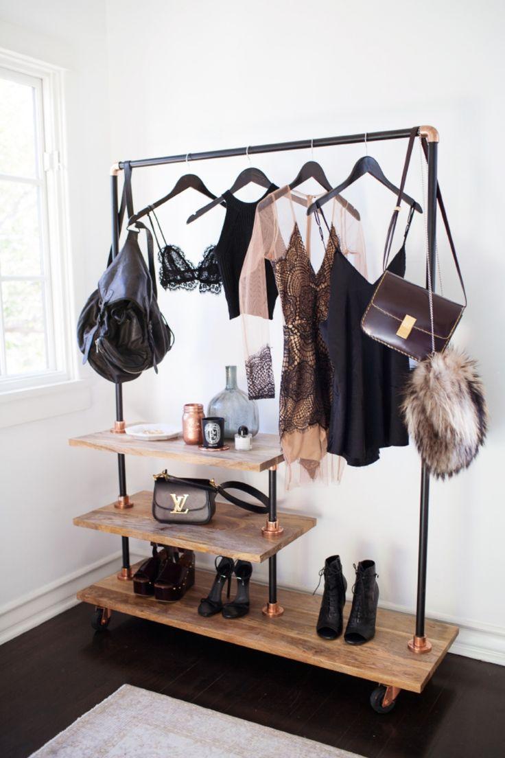 fashion clothing rack dressing room style