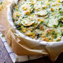 front-sweet-corn-zucchini-pie-vegetarian-recipe