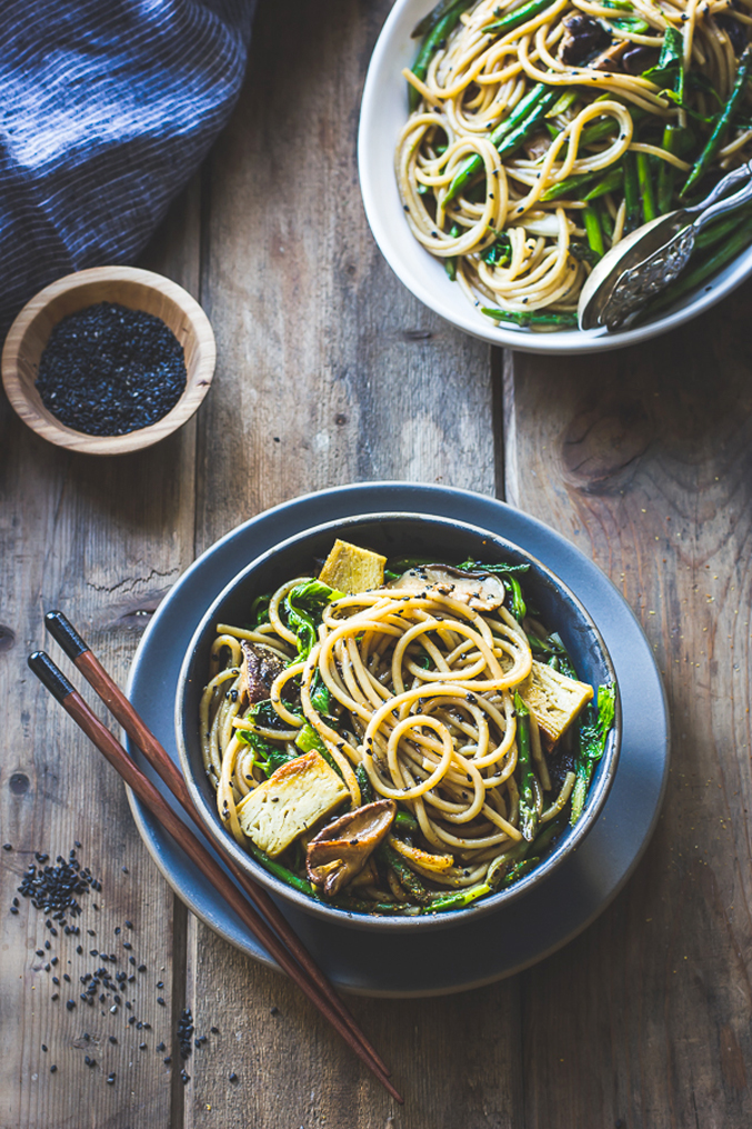 15 Favorite Vegetarian Dinner Recipes: Hot Sesame Noodles with tofu and vegetables---lede-4