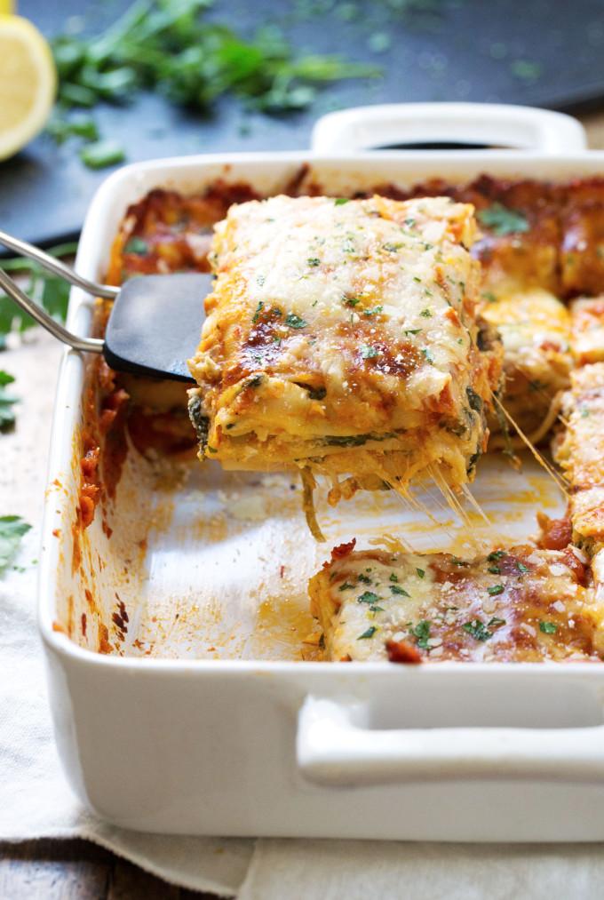 15 Favorite Vegetarian Dinner Recipes: Lasagna Florentine