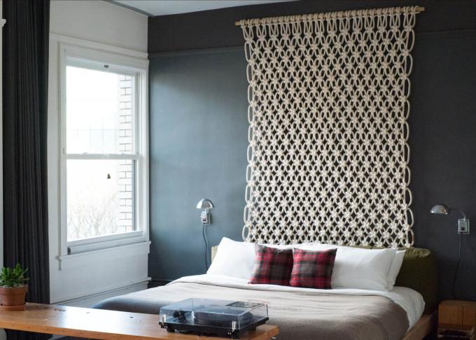 macrame wall hanging bedroom