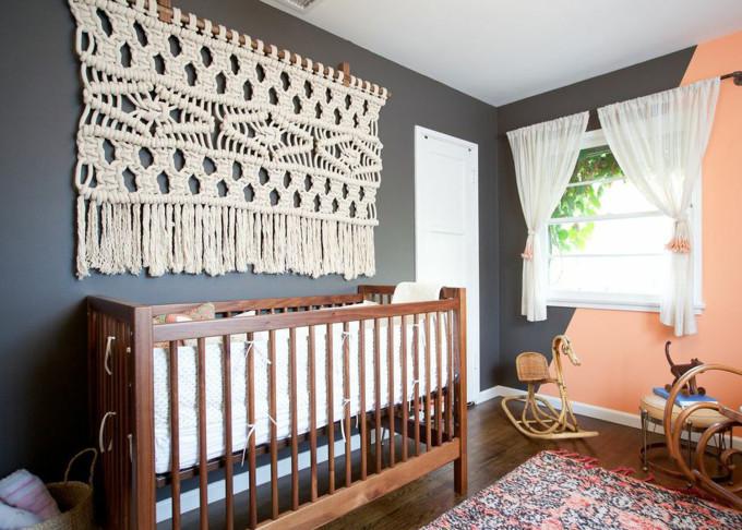 macrame wall hanging bohemian nursery
