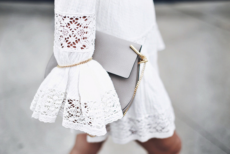 white lace dress summer grey chloe