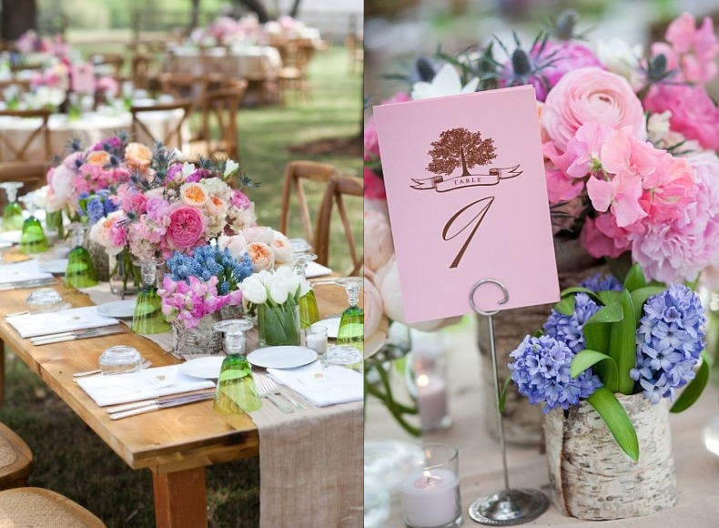 Texas-Ranch-Wedding-Summer-tablescape-design-flowers-birch