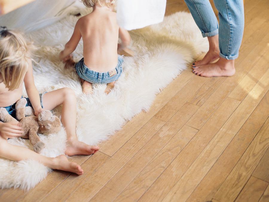 kids stay at home mom working mother - sheepskin denim