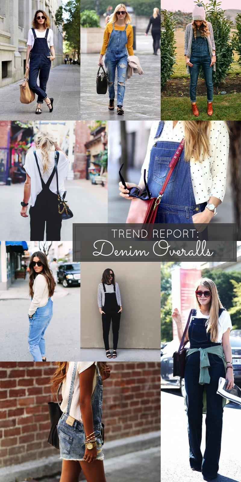 trend report denim overalls street style - glitterinc.com