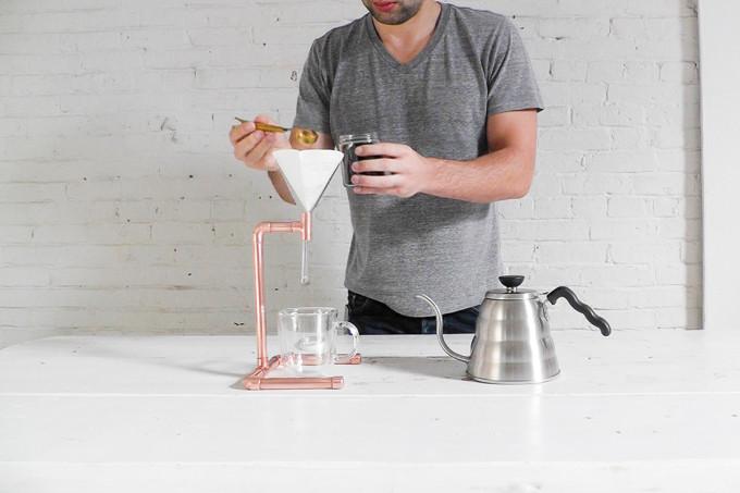 DIY Pour Over Copper Cofee Maker