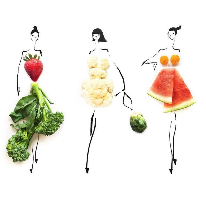 Food Fashion Sketches - Crudité Crew