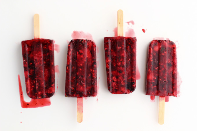 Summer Berry and Mint Popsicles